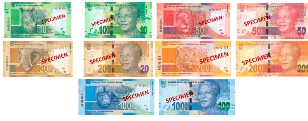 Billetes sudafricanos Rand